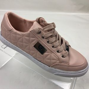 G By Guess Blush Pink Quilted Leather Shoes NWOT